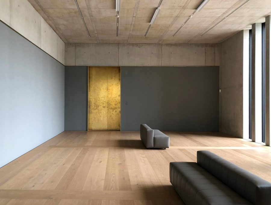 During a first short preview it was possible to visit the inside of the building without pieces of art. Photo by:©Kristin Müller - Kunsthaus extension by Chipperfield