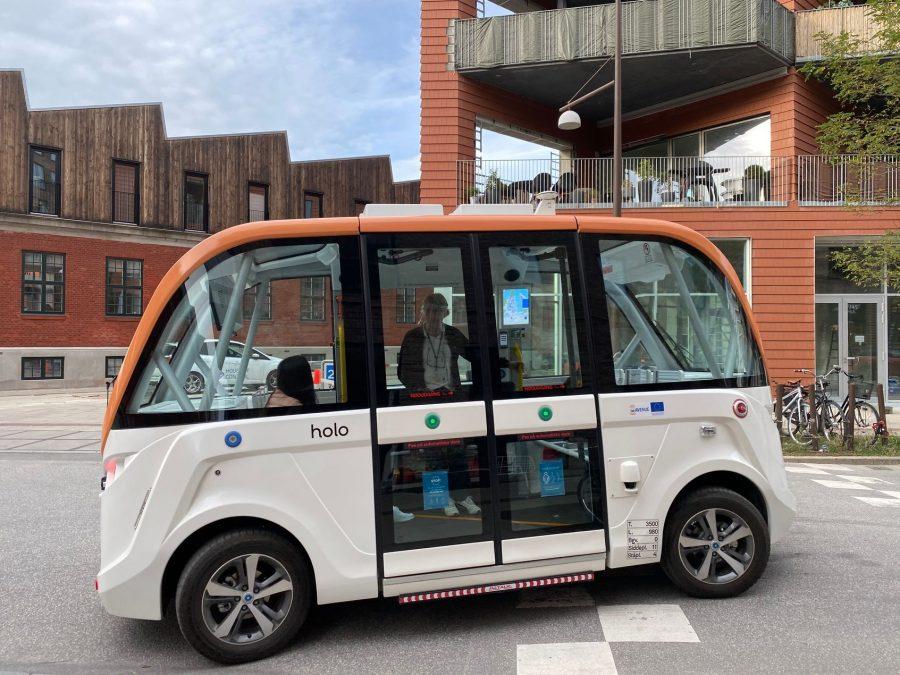 Driverless minibus.