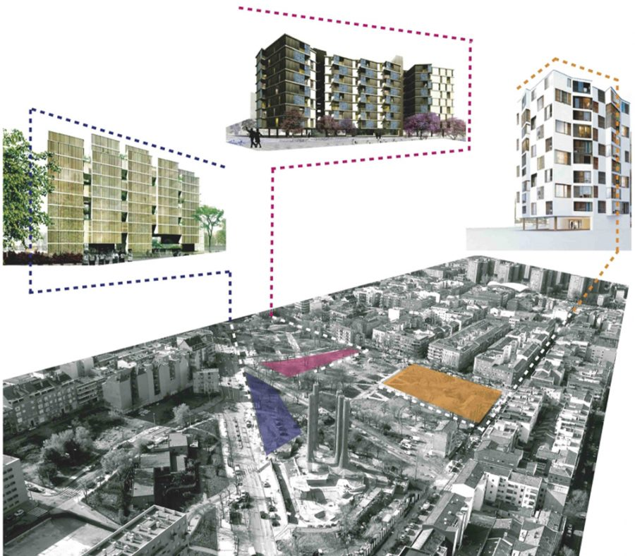 Implementation of the Eco Neighborhood Puente de Vallecas. Photo courtesy of EMVS