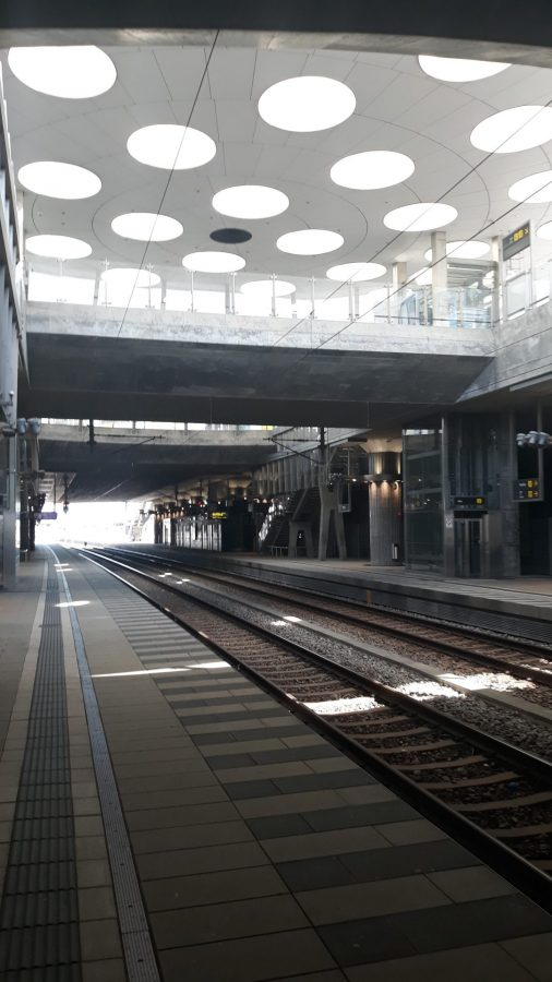 Infrastructure has been central to turning the Hyllie district into a beacon for sustainable urban development. In 2010, Hyllie station opened as part of the newly constructed City Tunnel, connecting the district to a new underground area of Malmo Central Station and the Triangeln railway station. The station serves as a gateway between Malmo and Copenhagen and offers the city's residents a more sustainable method of transport than driving by car. The design of the station eliminates any sense of being underground, as light penetrates down from the 52 skylights within its roof.