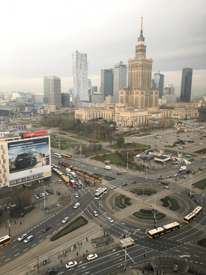 The Palace of Culture and Science and the urban structure of the city centre - Varsovia