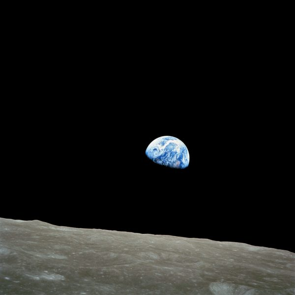 NASA-Apollo8-Dec24-Earthrise Photo of the Earth taken from Apollo 8, called Earthrise (1968). This file is in the public domain in the United States because it was solely created by NASA.