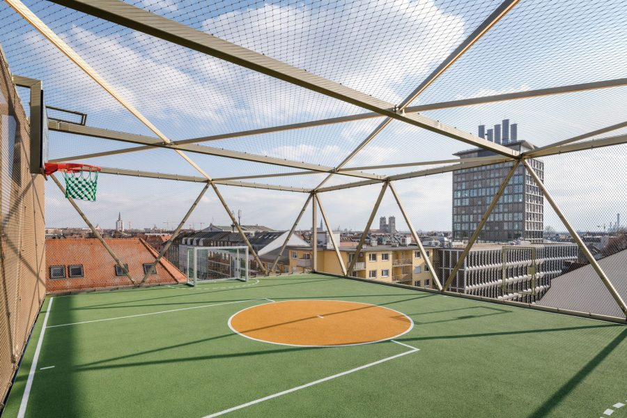 Roof soccer field. Photo by: ©Frank Schroth